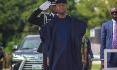 Vice President Yemi Osinbajo SAN represents President Muhammadu Buhari as the Special guest of honor at the annual Nigeria Army Day Celebration in Ikeja Cantonment Lagos 1