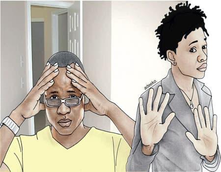 couple husband headache