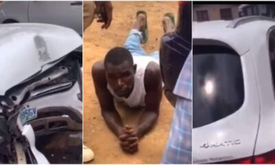 Car wash guy crashes clients Mercedes Benz while driving to buy food