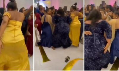 Heavy duty backsides ladies causes confusion at a wedding ceremony
