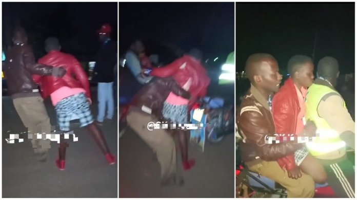 Man bundles lady on a bike after he bought her drinks and refused to spend the nig