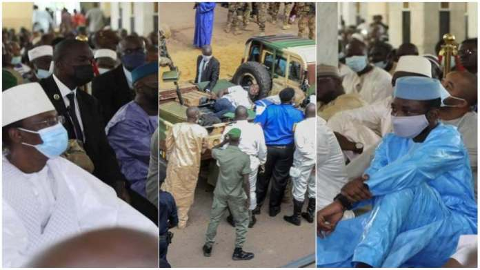 Moment Malis President was attacked with a knife during Eid prayers