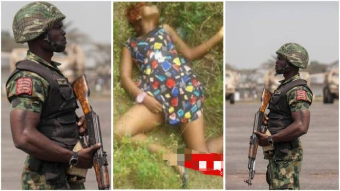 Soldier kills girlfriend for dumping him after he sponsored her education