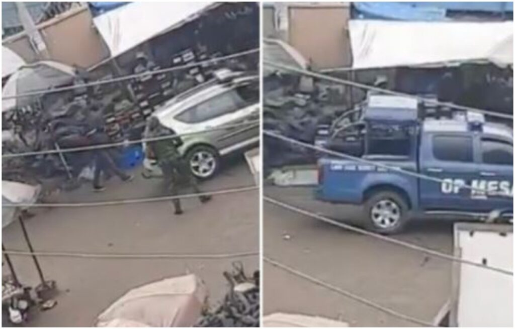 Soldiers Clash With Traders In Lagos