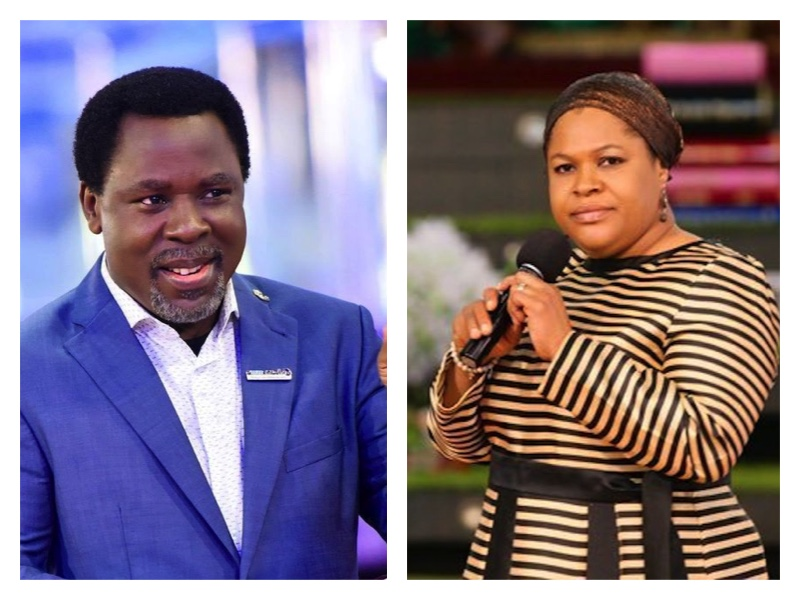 TB Joshua and his wife Evelyn ...