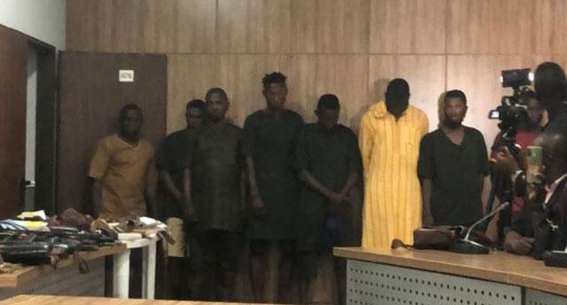 The men arrested in Sunday Igbohos home in Ibadan