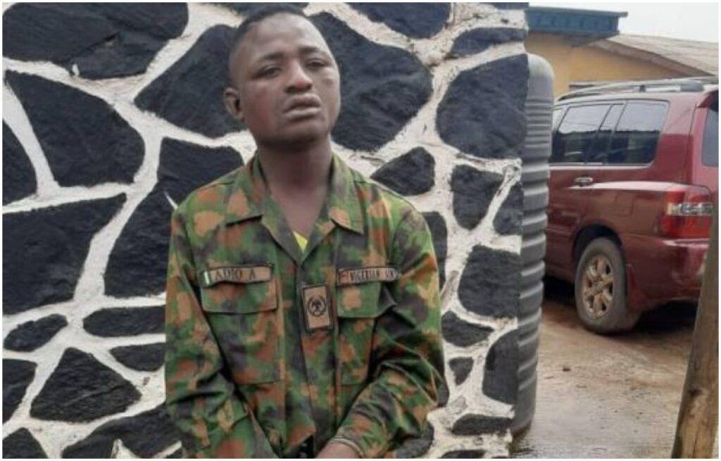 fAKE military nabbed