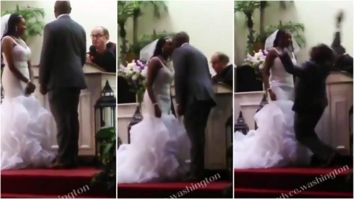 groom falling anointment