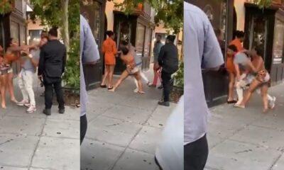 drama as lady assaults boyfriend