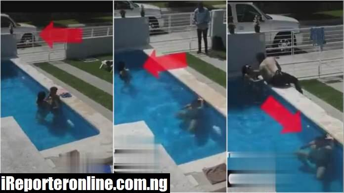 man almost drowns in pool
