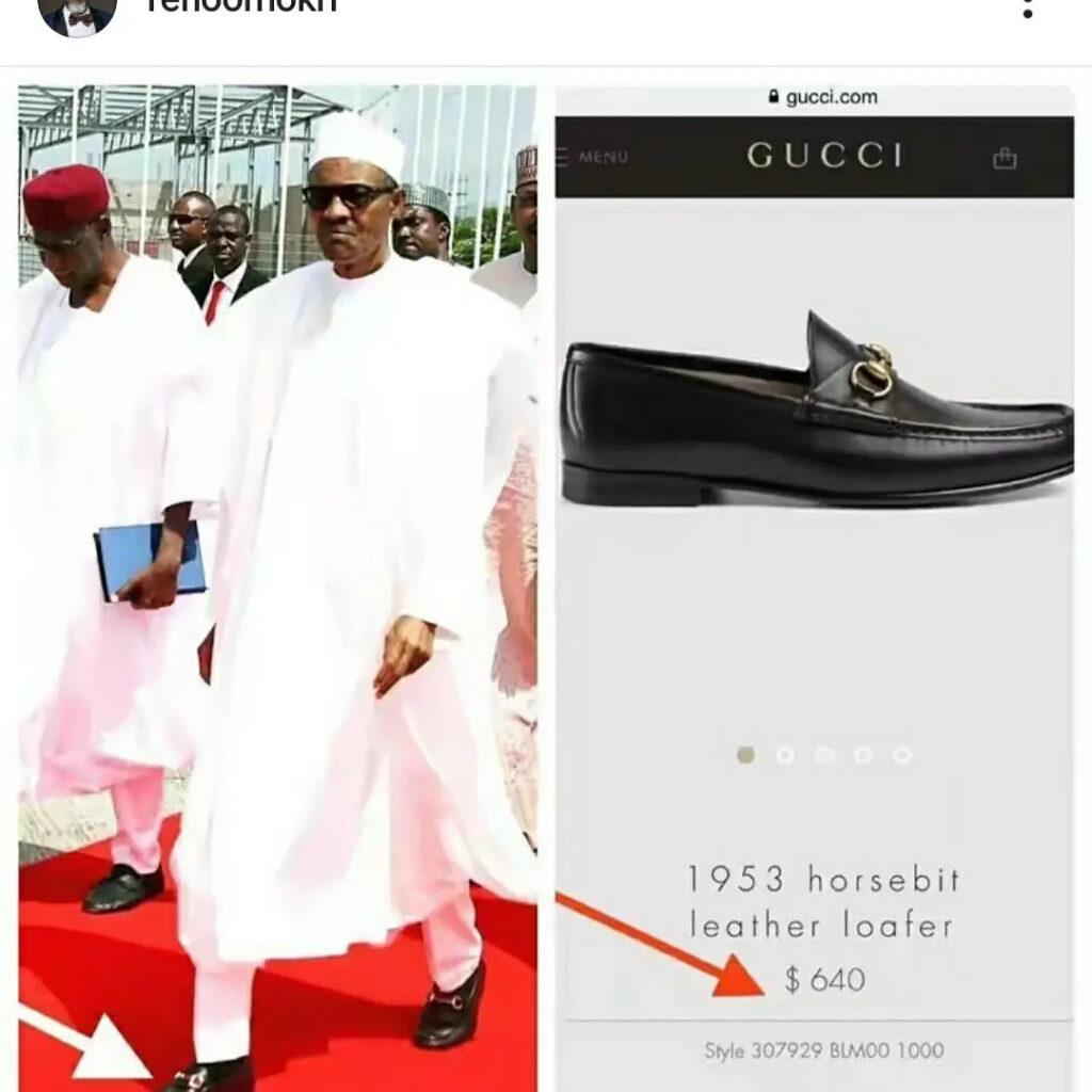 buhari;s shoe